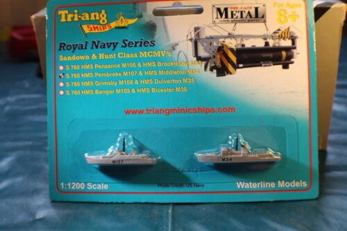 HMS Pembroke M107 e HMS Middleton M34 minehunters Royal Navy Nuovo di zecca in massa