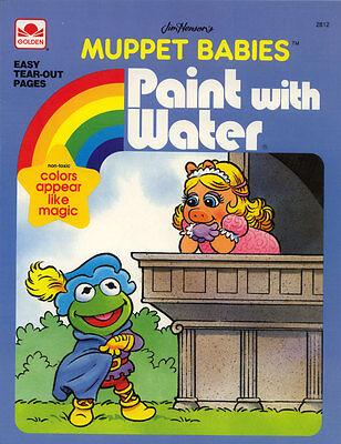 Muppet Babies Coloring Book Rare Ebay