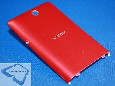 Sony Xperia E C1504 C1505 Akku Deckel Back Cover Tasten Original Neu pink rot