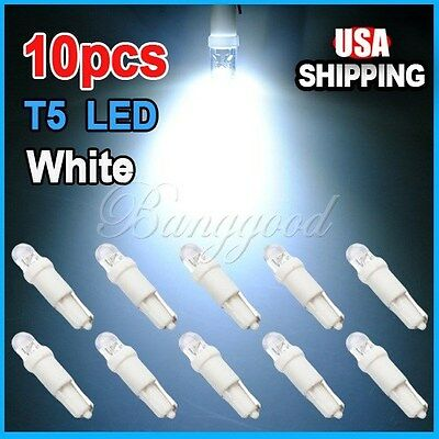 10X T5 37 58 70 73 74 Car Auto Dashboard Gauge 1 LED Wedge Side Light Bulb Lamp