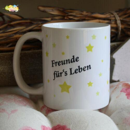 Tasse// Freunde sind wie Sterne Geschenk Weihnachten Liebe Freundschaft