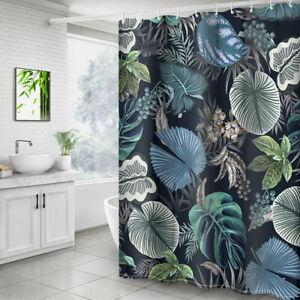 Mode-Plante-Tropicale-Rideau-Douche-Avec-12-Crochet-Pr-Salle-de-Bain-Toilettes