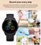 Senora-dorado-c19-Bluetooth-reloj-redondo-display-Android-iOS-Samsung-iPhone-IP miniatura 4