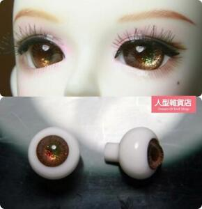 16mm Glass Eyes For 1//3 1//4 1//6 BJD Doll with Handled Sphericity Brown