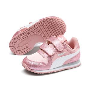 Details zu PUMA Cabana Racer Glitz V PS Inf Sneaker Schuhe Baby Mädchen Rosa 370986 02