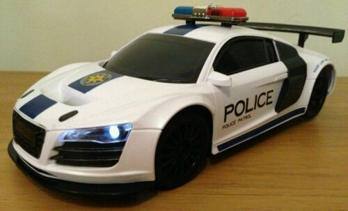 Audi R8 Police Radio Remote Control Car Scale 1 18 Fast Speed Ebay