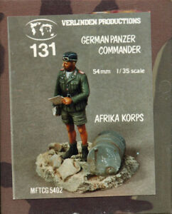 Verlinden-1-35-German-Panzer-Commander-w-Base-Resin-Figure-Kit-131