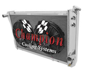 1977-1982 Chevrolet Corvette Champion 3 Row Radiator with Dual 12in Fans