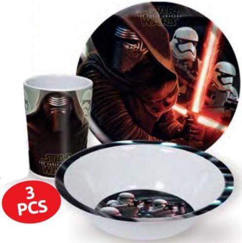 Kinderteller Kinder Geschirr Melamin Star Wars SET Becher+Schale+Teller