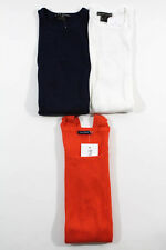 Lot 3 Cotton Tank Tops: 2 Ralph Lauren Size Small, Magaschoni Size Extra Small