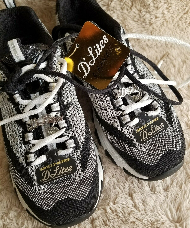 Skechers Negro Plata Zapatos Zapatos Zapatos Mujeres d'lites Sport Casual Comfort de espuma de memoria de tamaño 7  n ° 1 en línea