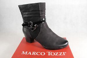 huge discount 8fd4a bc8a3 Details zu Marco Tozzi Stiefelette Stiefel, schwarz, Leder 25421 NEU!!