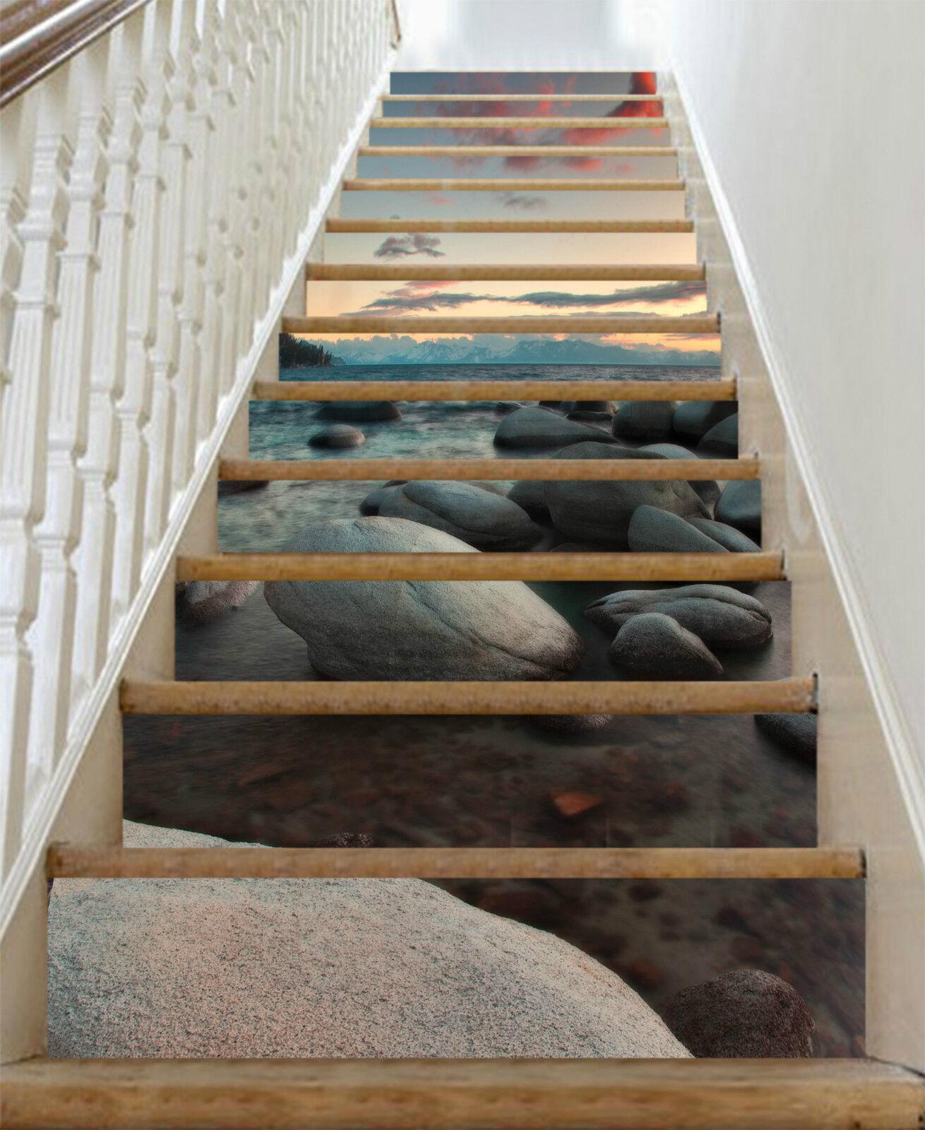 3D Sandstrand 243 Stair Risers Dekoration Fototapete Vinyl Aufkleber Tapete DE