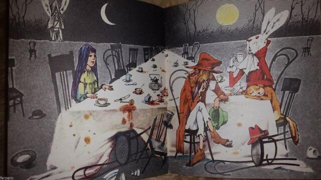 Vintage Russian Book Lewis Carroll Alice in Wonderland old Children Gorohovsky