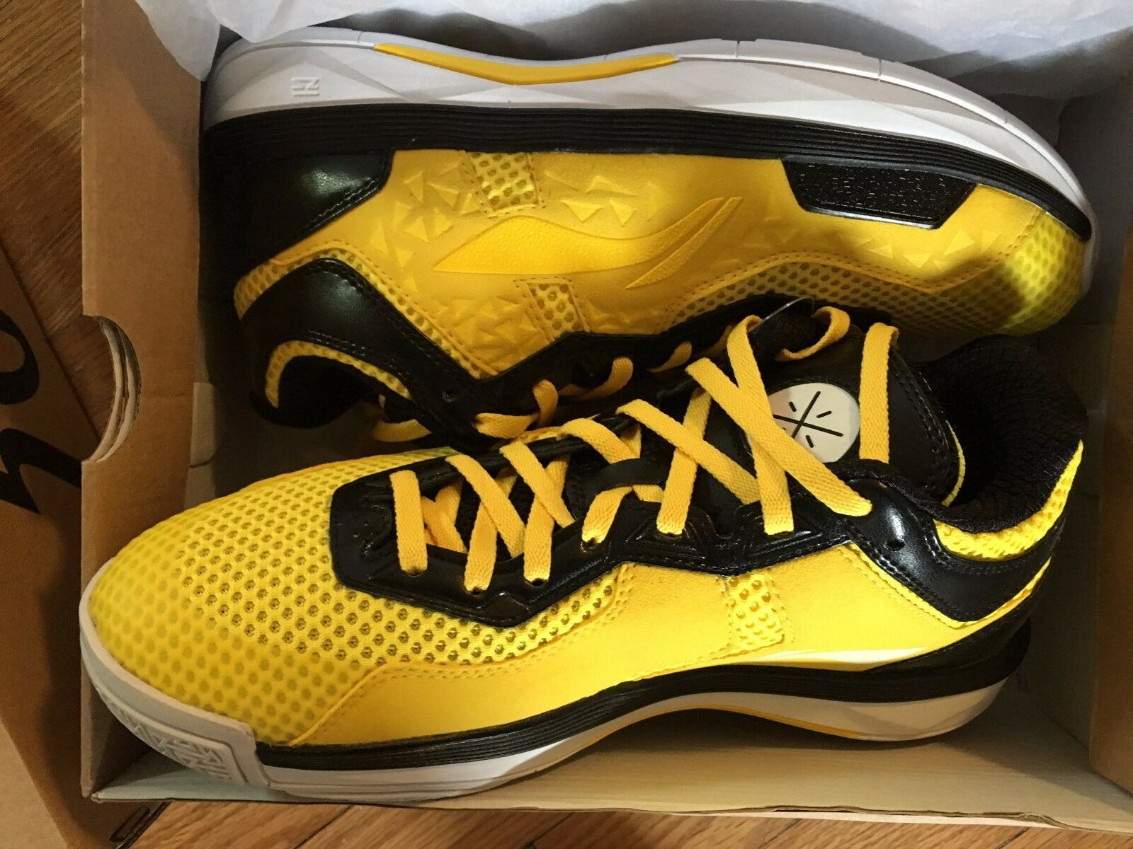 Li-Ning Way of Wade All City 4 Caution giallo giallo giallo Heat Dimensione 10.5 DS NEW 29c597