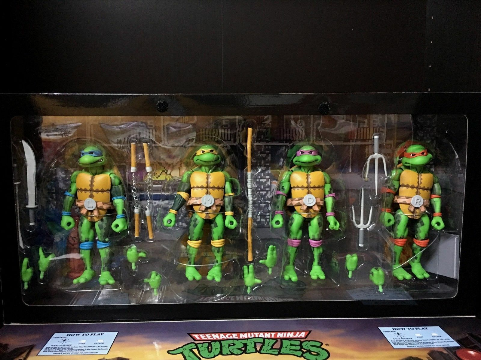 Neca sdcc 2016 teenage mutant ninja turtles 7  action - figur exklusive box tmnt