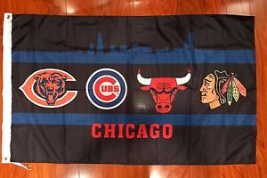 Chicago-Cubs-Bulls-bears-Blackhawks-Flag