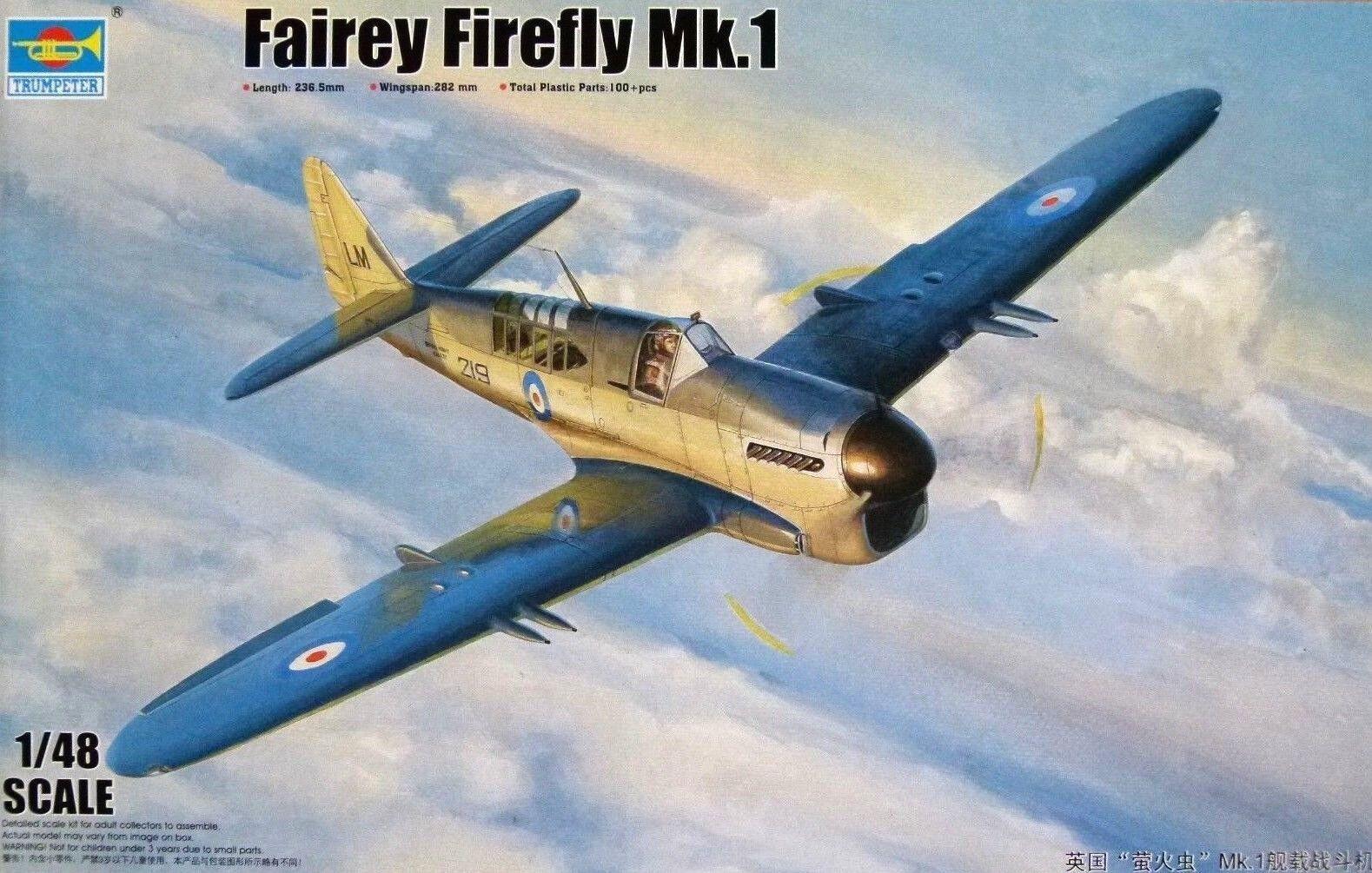 Trumpeter 1 48 Fairey Firefly Mk.1 Aircraft Model Kit