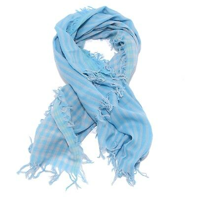 1274w Sciarpa Bimbo Woolrich Light Blue Scarf Cotton Kid