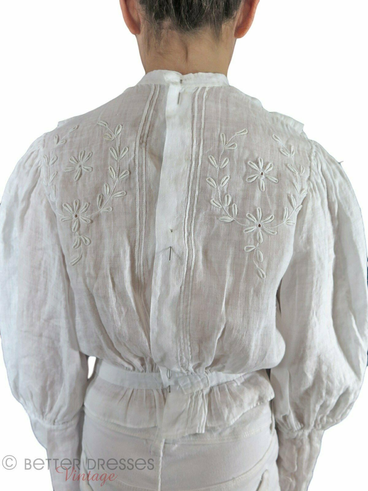 Antique Embroidered Blouse - xs, sm - image 4