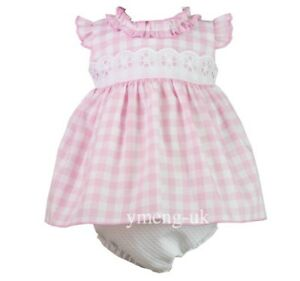 Sale Gorgeous Baby Girl S Pink Gingham Spanish Dress Matching Pants