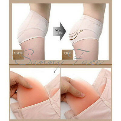 Sexy Silicone Buttock Underwear Fake Ass Butt Bum Pad Lift Hip Panties New CA
