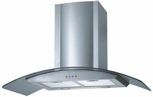 Edelstahl Abzugshaube Dunsthaube Küche Abluft Umluft Beleuchtung 900mm NEU*60728