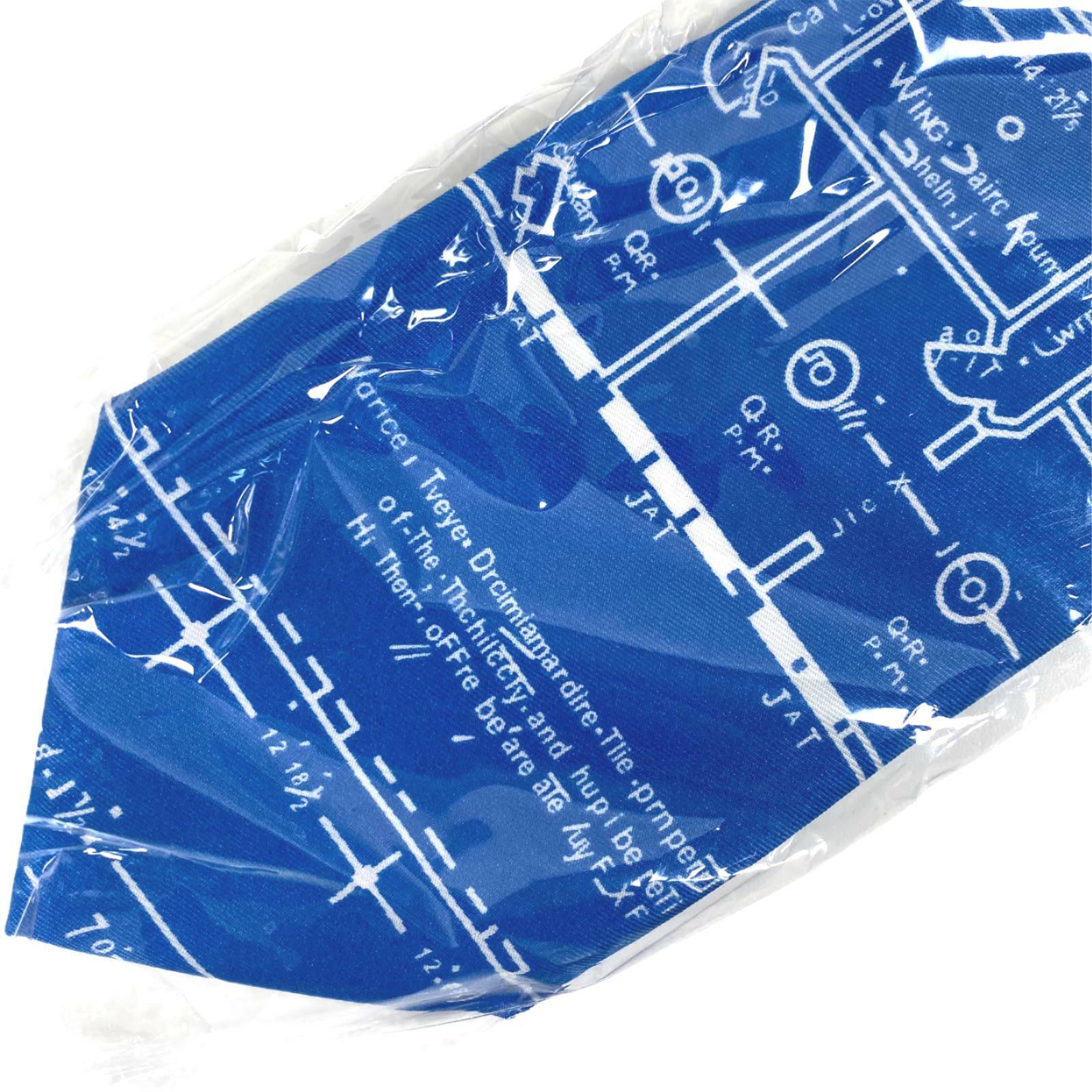 Wild Ties Blau Blueprint Krawatte Nwt