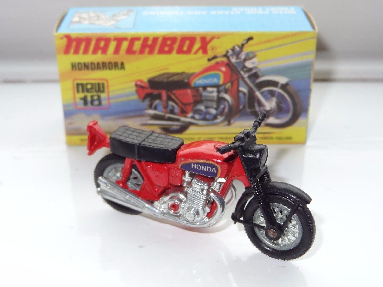 (K) lesney matchbox SUPERFAST HONDARORA MOTOR CYCLE - 18