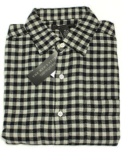 e40b88ecbb Image is loading New-The-Mens-Store-Bloomingdales-Black-Gray-Checked-
