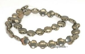 PALAZZO PYRITE GEMSTONE LOVE HEART 8MM LOOSE BEADS 15.5/""