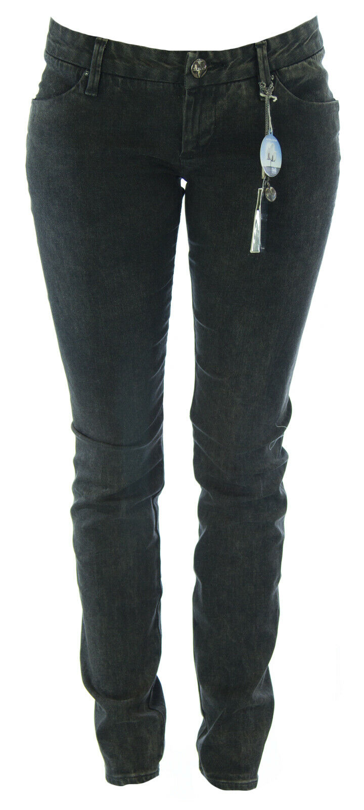 Lerock Donna Nero Sbiadito Gamba Gamba Gamba Dritta Slim Denim Jeans Taglie 27 Nuovo afd7fa