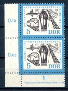 DDR-MiNr-916-I-postfrisch-MNH-Plattenfehler-im-senkr-Paar-PL182