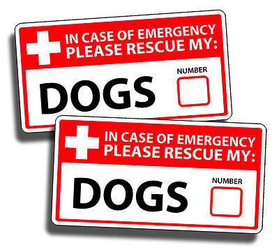 DOG Emergency Pet Rescue Decal Sticker Lab Bulldog Poodle Boxer Pitbull Safety