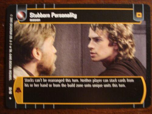 Star Wars TCG ROTS Stubborn Personality