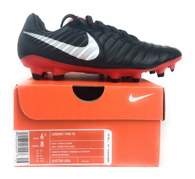 7ece625a0 NIKE TIEMPO LEGEND 7 PRO FG SOCCER CLEATS MENS 6.5 WOMENS 8 BLACK RED  AH7241-