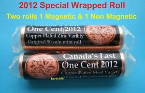 Canada-039-s-Last-one-Cent-2012-2-rolls-Special-wrapped-MINT-SEALED-Unopened