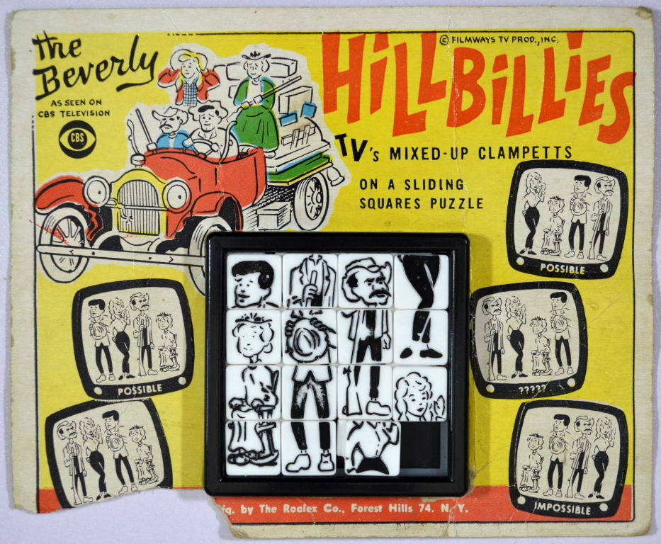 The BEVERLY HILLBILLIES ROALEX SLIDE PUZZLE 1960's Filmways TV Prod MOC