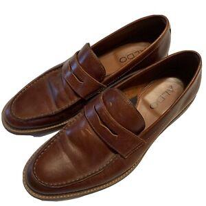 ALDO Men's Penny Loafers Light Brown US
