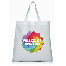 4pcs Non Woven Sublimation Blank Tote Bag 13 X 10 In Plain White Shopping Bags