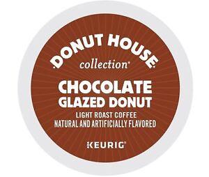 Donut House Chocolate Glazed Donut Coffee 24 to 192 Keurig K cups Pick Any Size