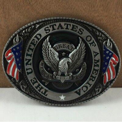 American Flag Bald Eagle Metal Belt Buckle Classic Vintage Mens Jewelry U.S.A