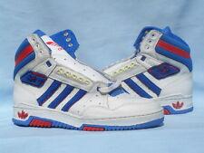 Vintage 1990 Adidas Varsity Hi Forum Stan Smith White/Red/Blue CLEAN Size 9.5