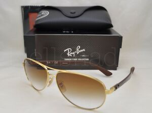 e7b22a37f1 Ray Ban CARBON FIBRE (RB8313-001 51 61) Arista with Brown Gradient ...
