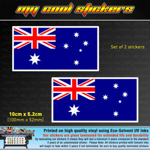 2-x-10cm-Australian-Flag-Vinyl-Sticker-Decal-car-ute-4x4-window-bumper-Australia