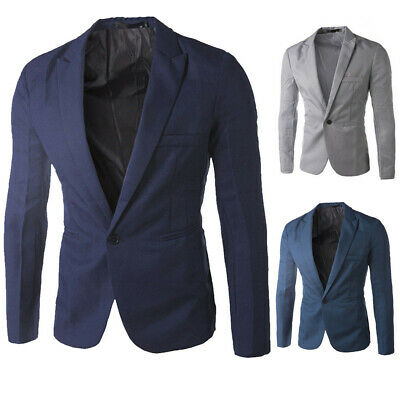 Stylish Men/'s Casual Slim Fit One Button Suit Blazer Coat Jacket Tops