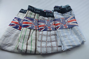 Herrenmode Freundschaftlich 4 Pack English Laundry Check Boxer Shorts Underwear Xl 31-34 100% Cotton Nwt Aa Tropf-Trocken