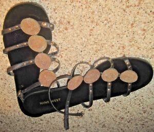 Nine-West-Size-8-M-Unique-and-Pretty-Black-Sandals
