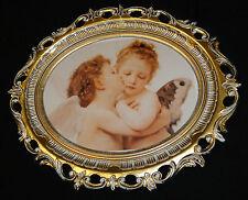Engelsbild Bild mit Engel Schutzengelbild Heiligebild 58X68 Bilderrahmen Neu