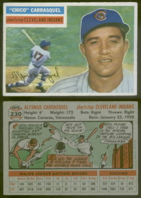(16425) 1956 Topps 230 Chico Carrasquel Indians-EX